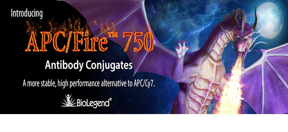 APC/Fire™ 750 provides a more temperature and photo-stable alternative to APC/Cy7.